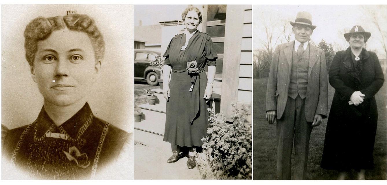 Elina Storkull. På bilden till höger tillsammans med sin man Alfred.