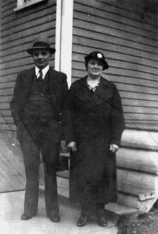 Storkull Frans och Lydia i Amerika.
