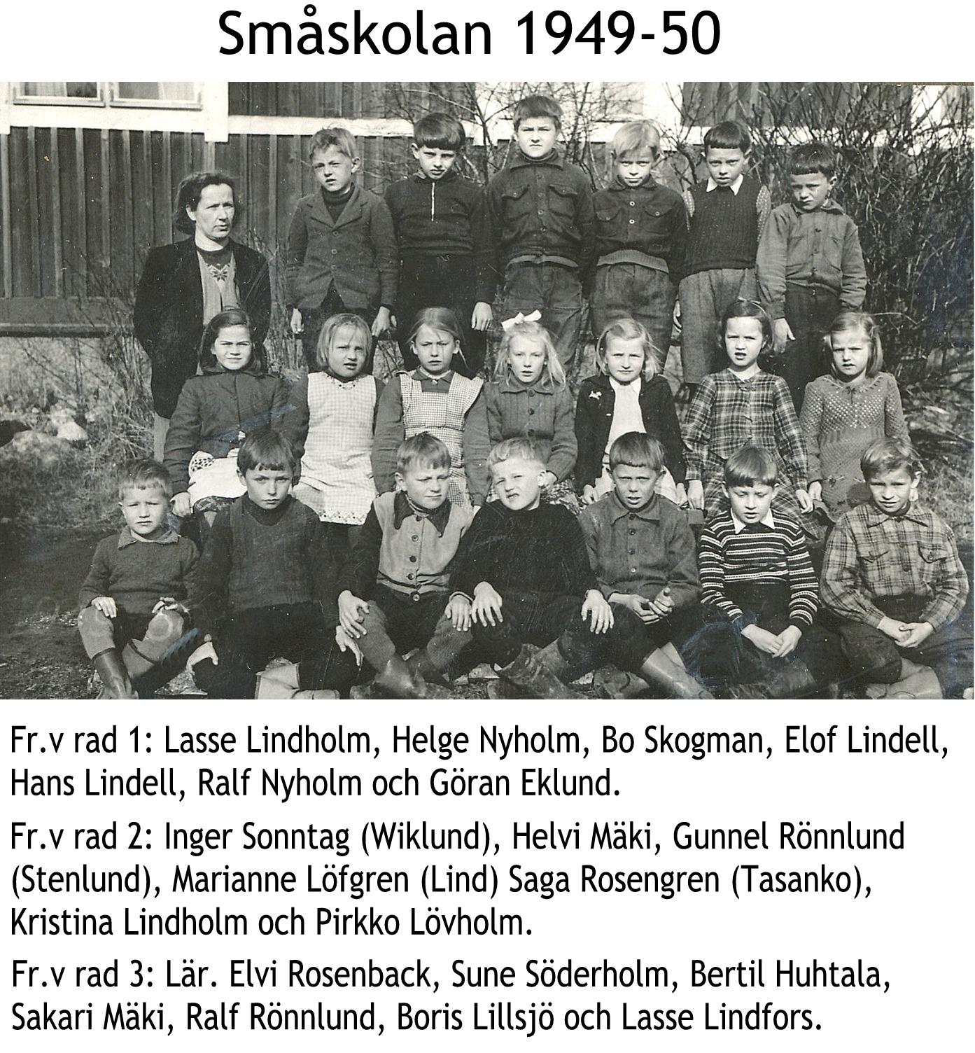 1949 Småskolan 1949-50