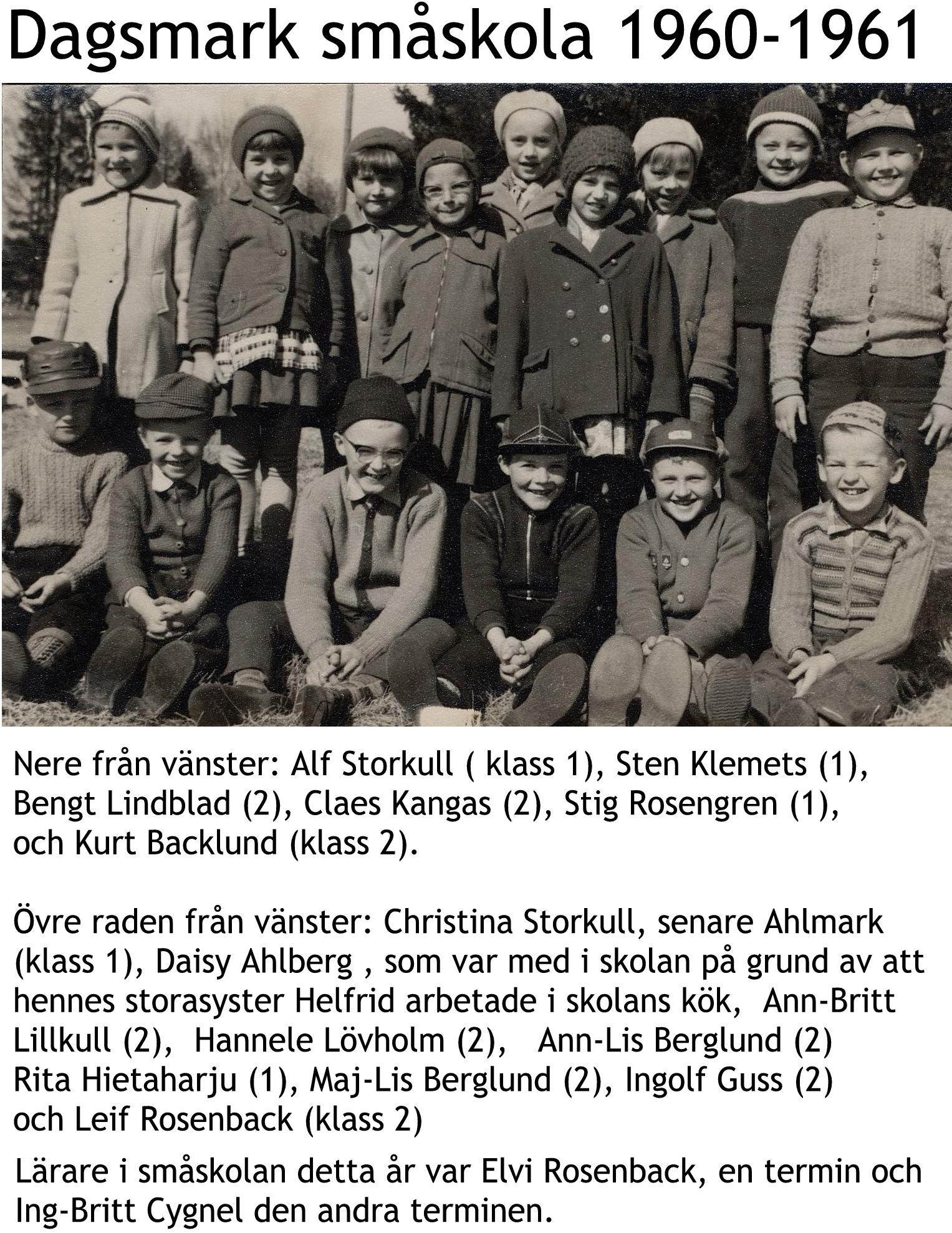 1960 Småskolan 1960-61