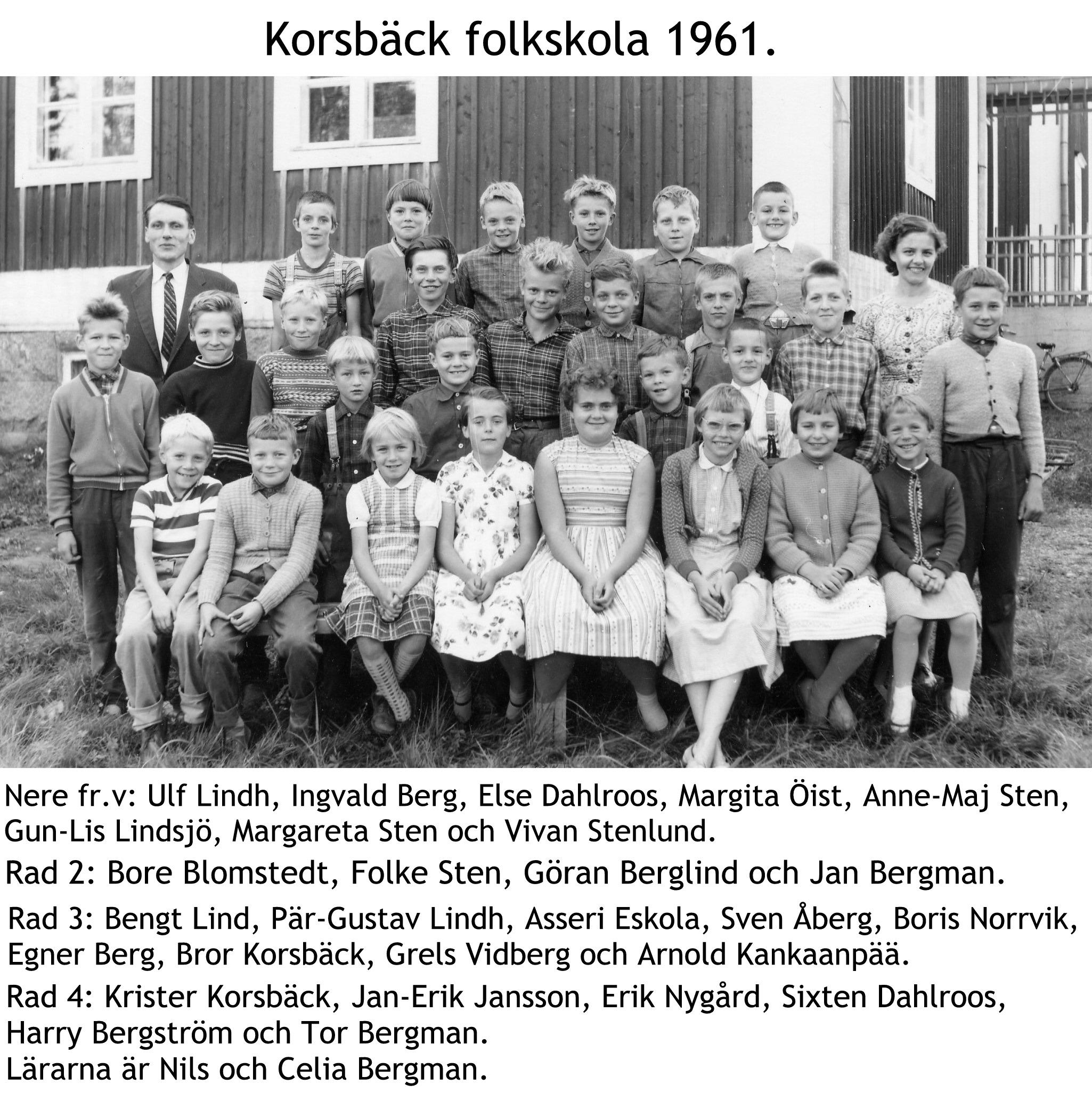 1961 Korsbäck skola med txt