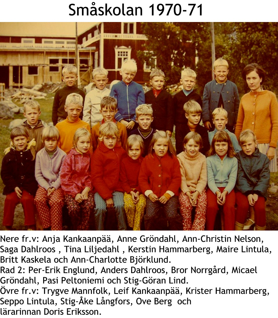 1970 Småskolan1970-1971