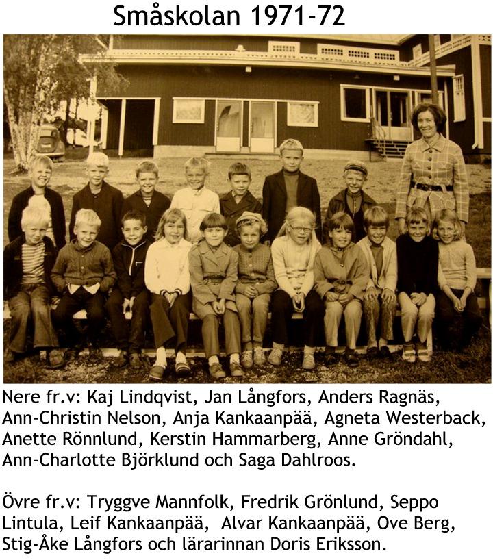 1971 Småskolan 1971-1972