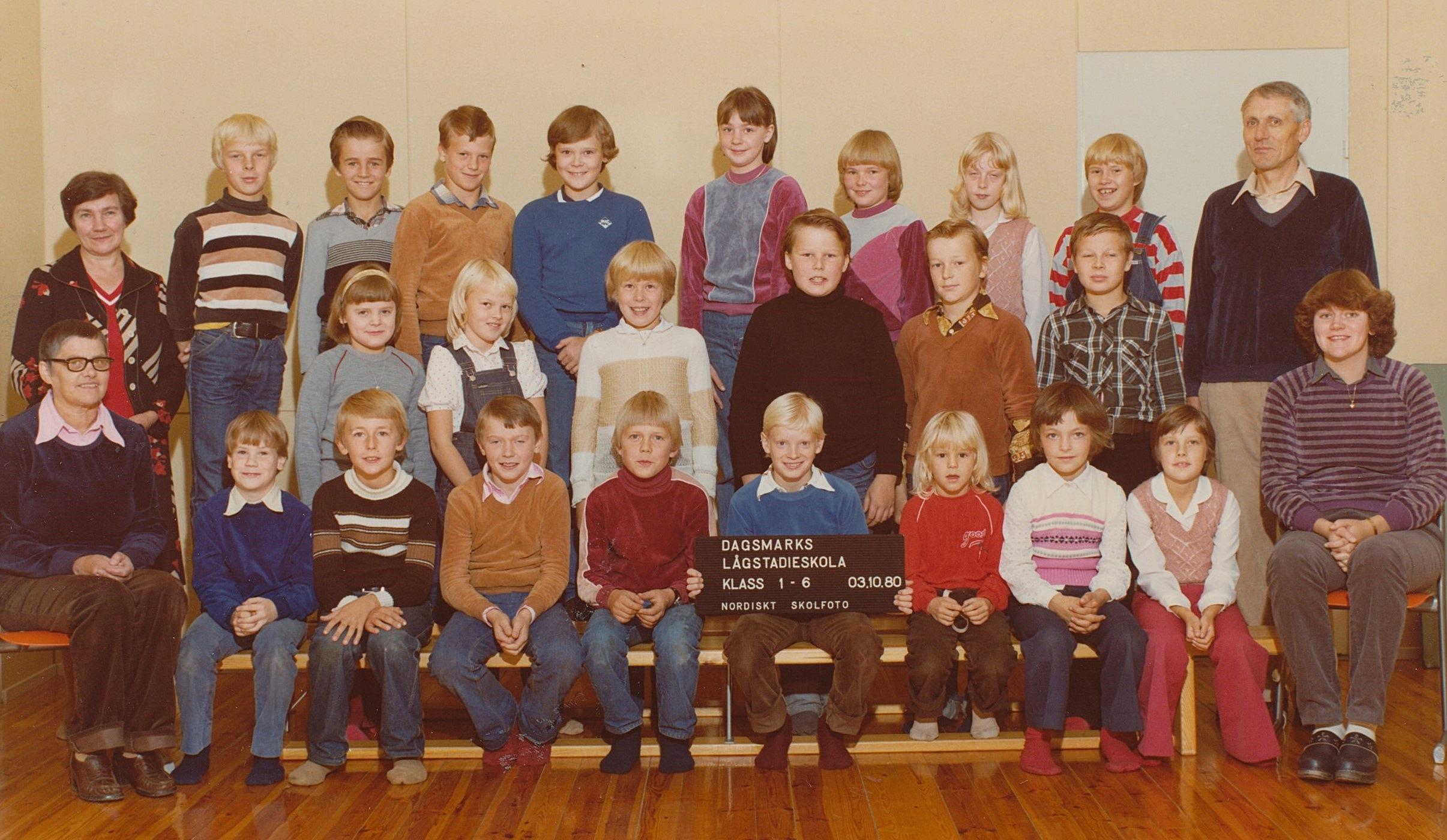 År 1980, hela skolan.