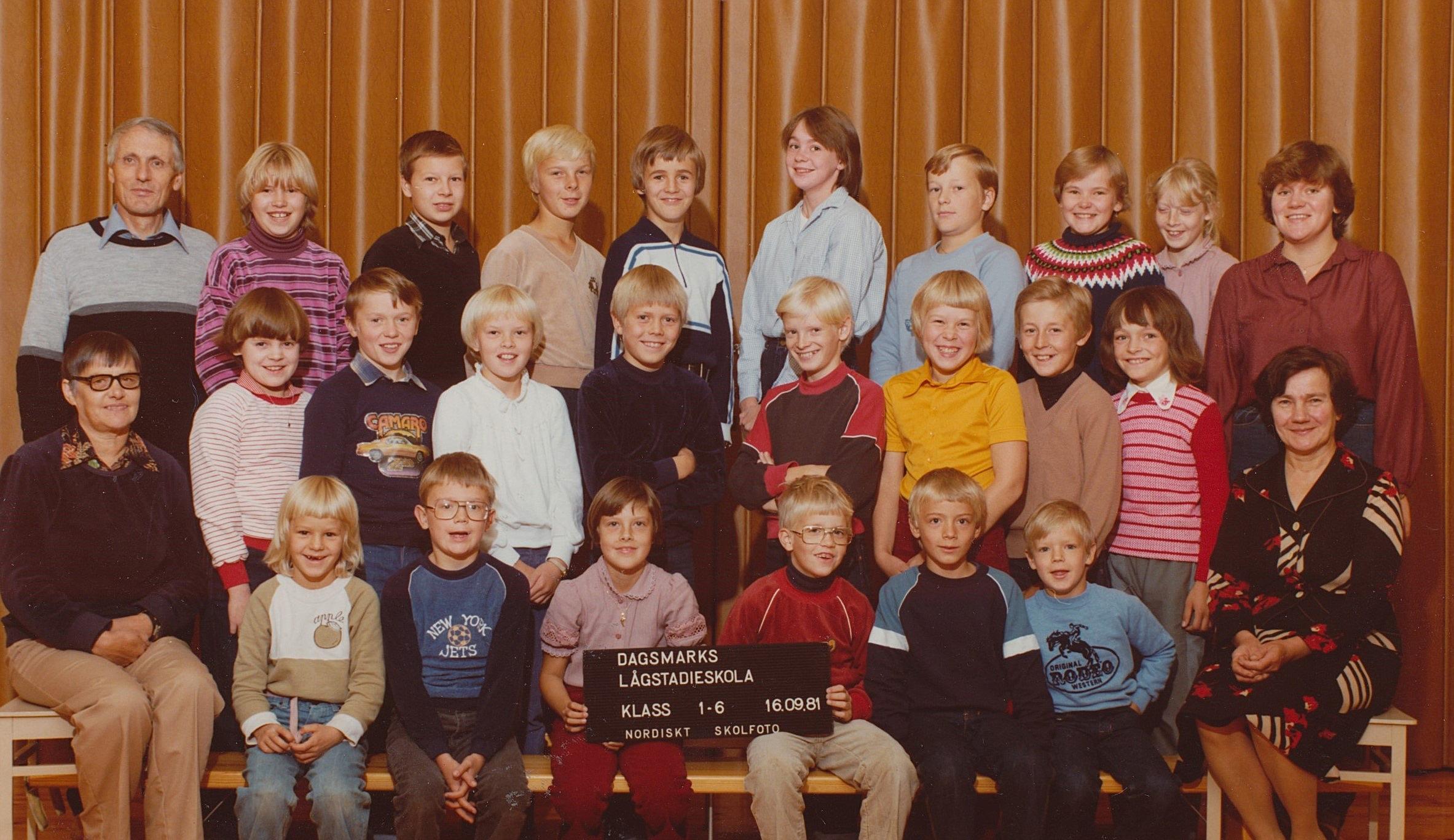 År 1981, hela skolan.