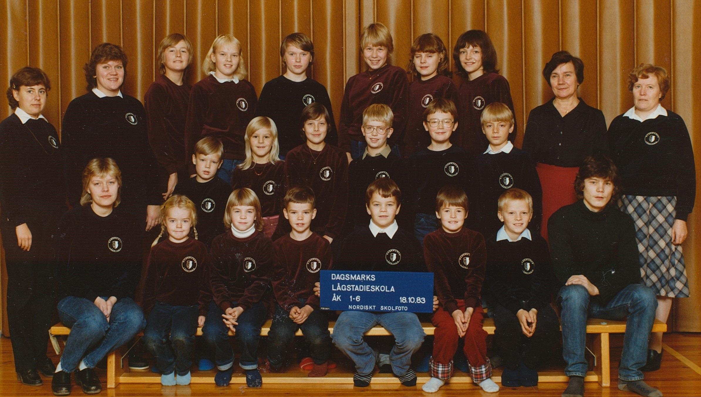 År 1983, Dagsmark skola.
