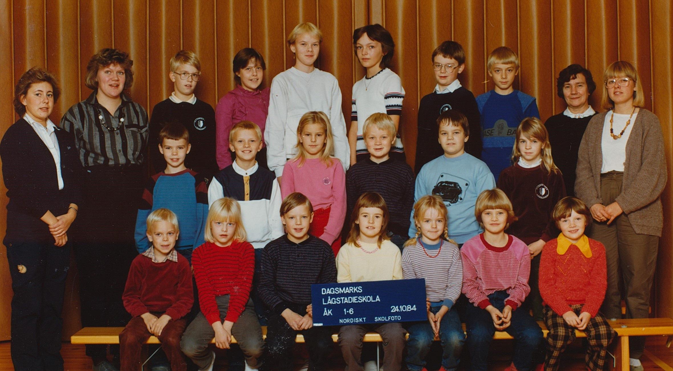 År 1984, Dagsmark lågstadieskola.