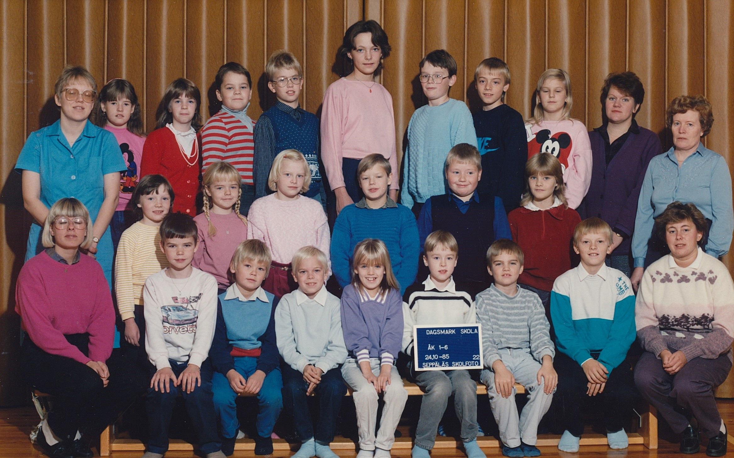 År 1985, hela Dagsmark skola.