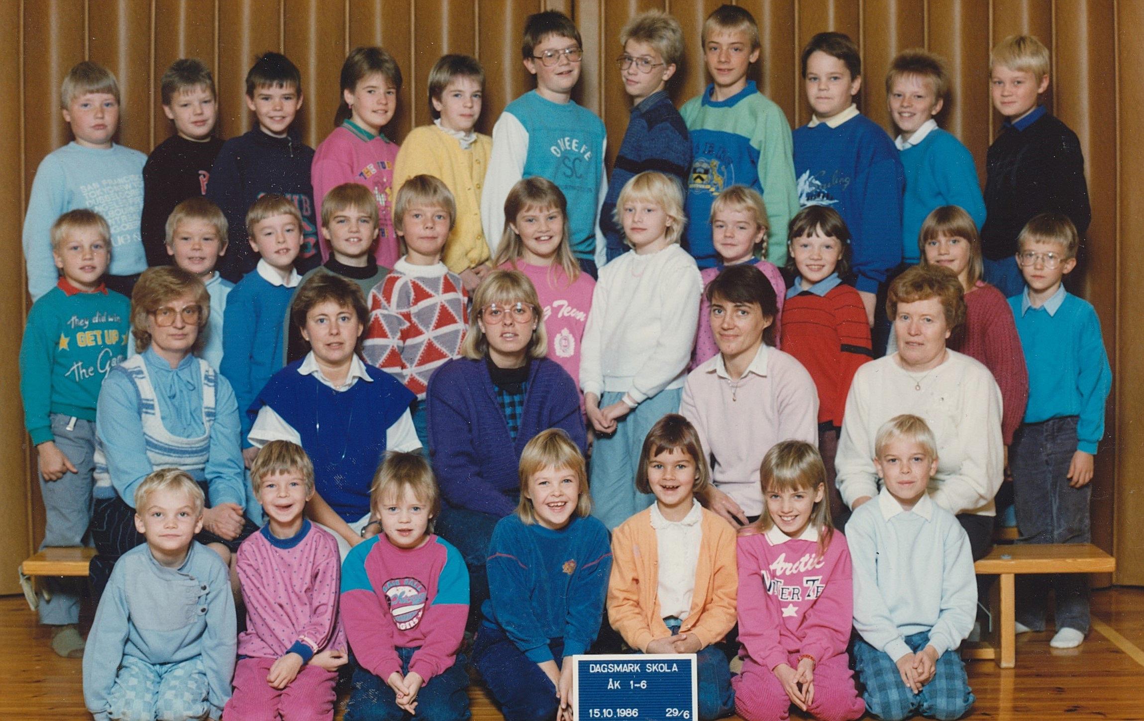 År 1986, hela skolan.