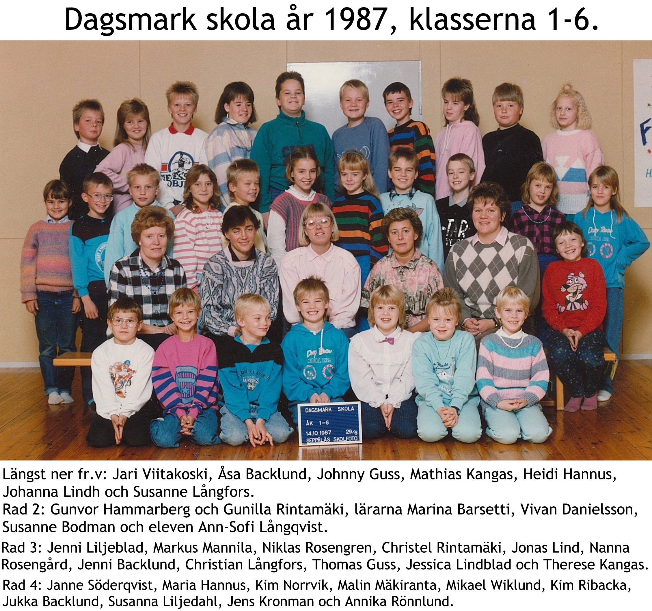 1987 Dagsmark hela skola med namn