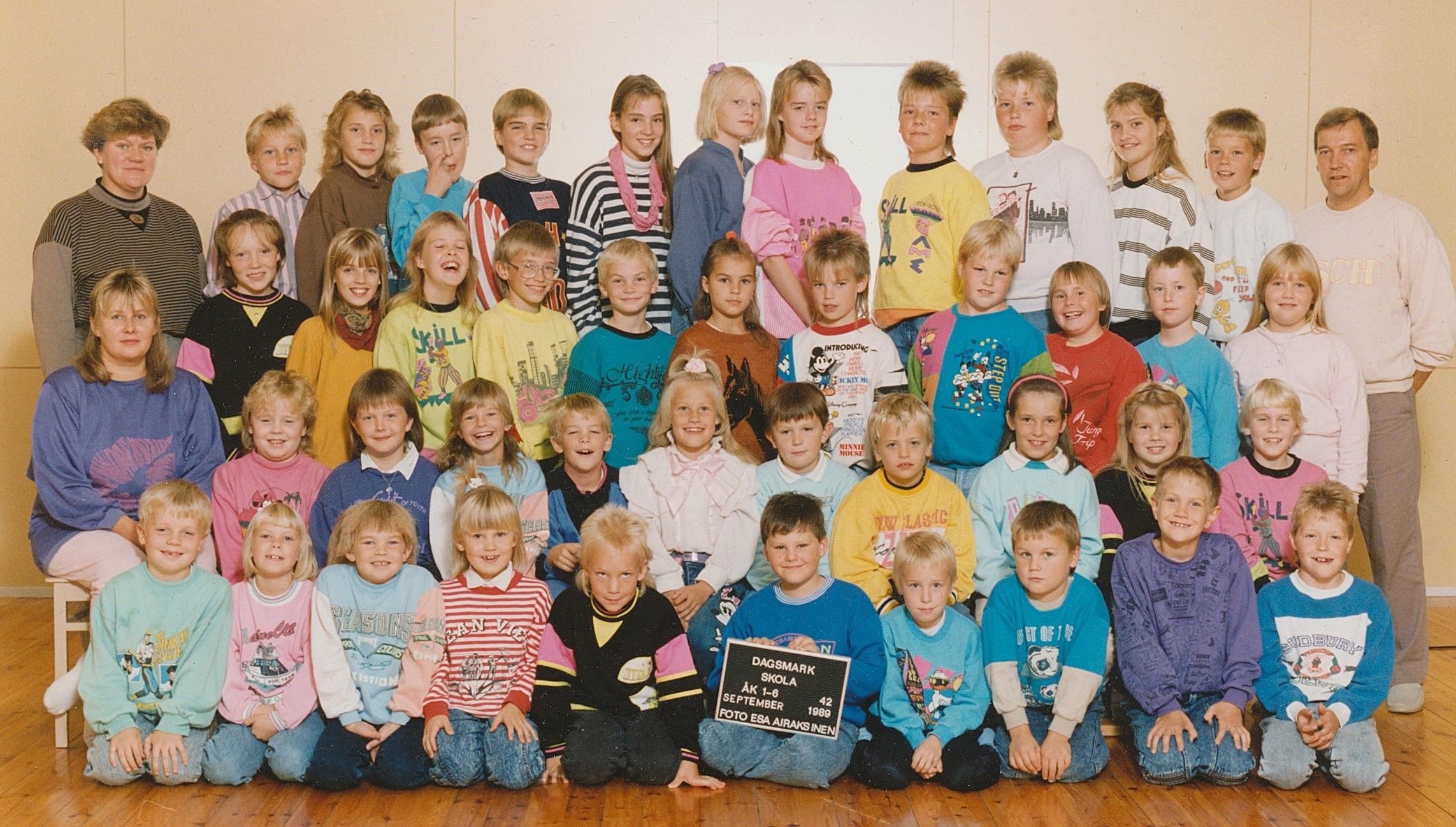 År 1989, hela Dagsmark skola.