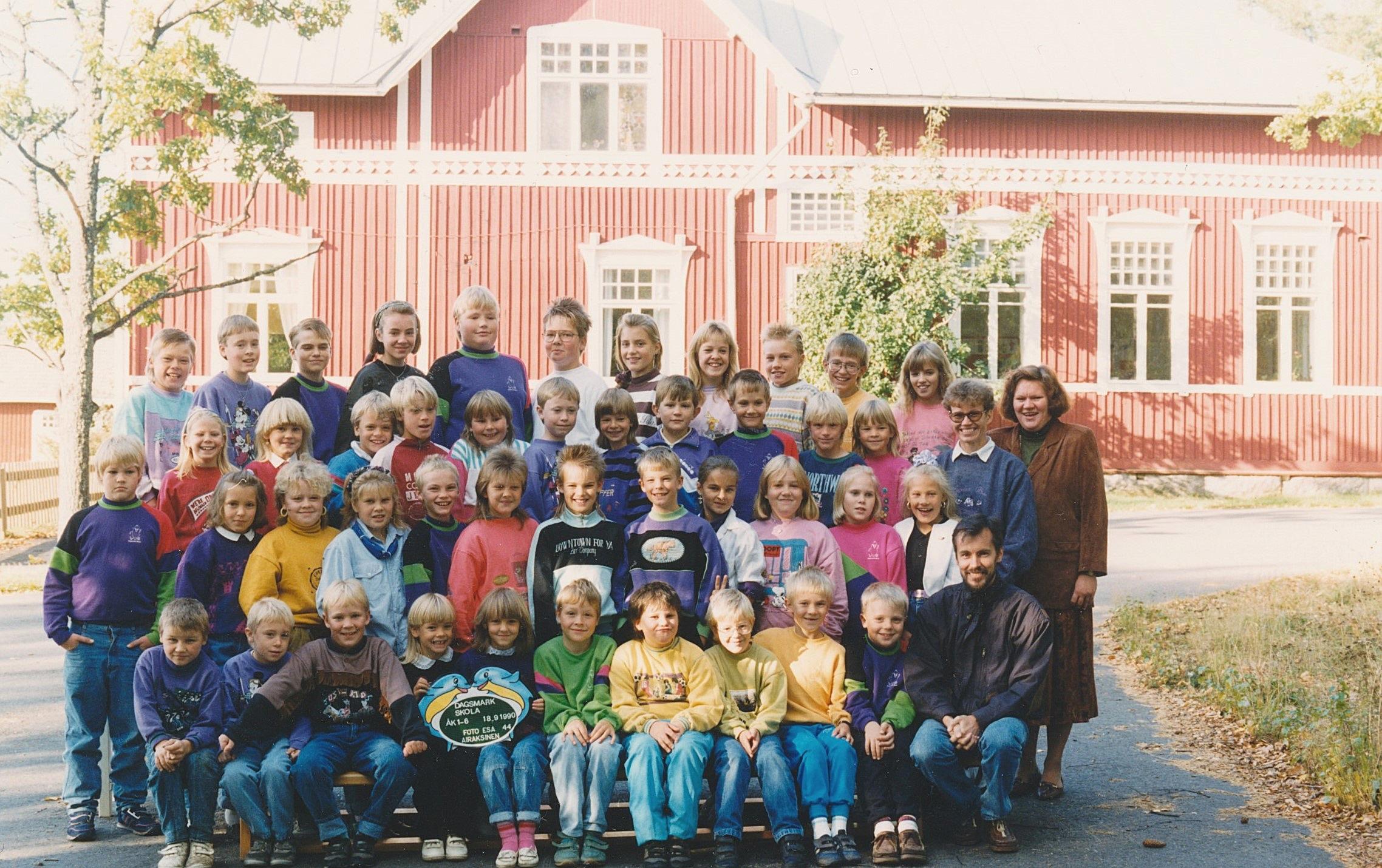 År 1990, hela Dagsmark skola.