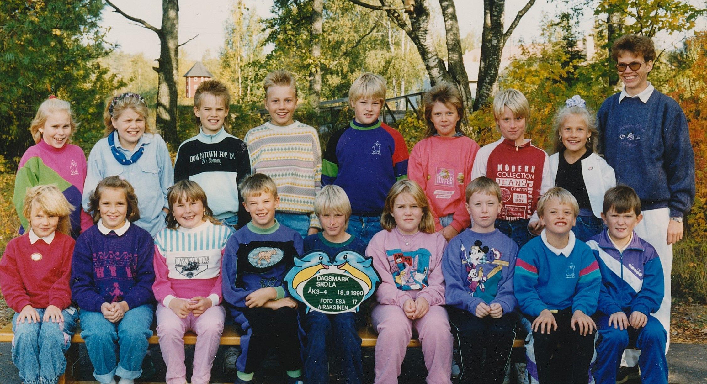 År 1990, årskurser 3-4.