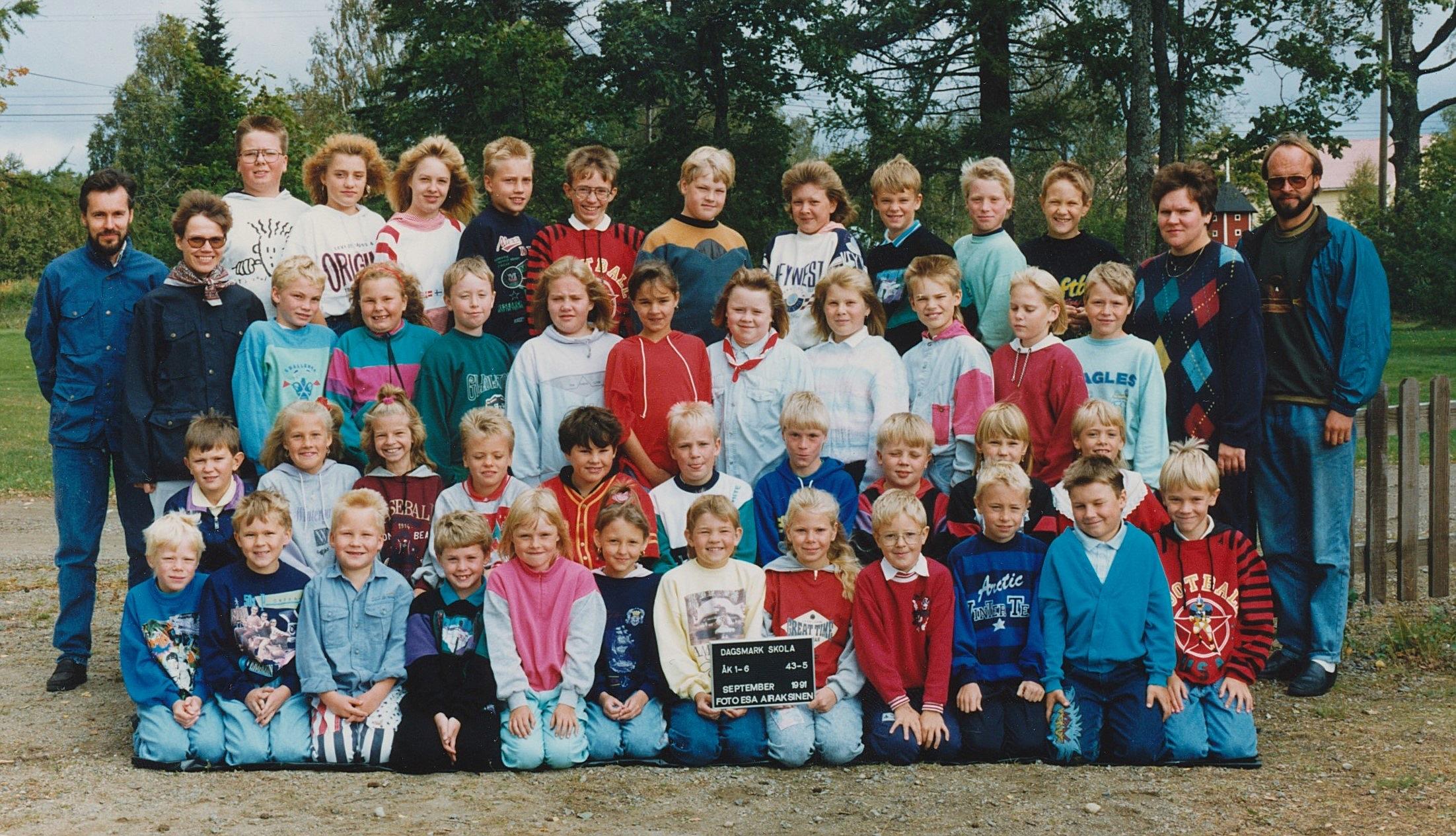 År 1991, hela Dagsmark skola.