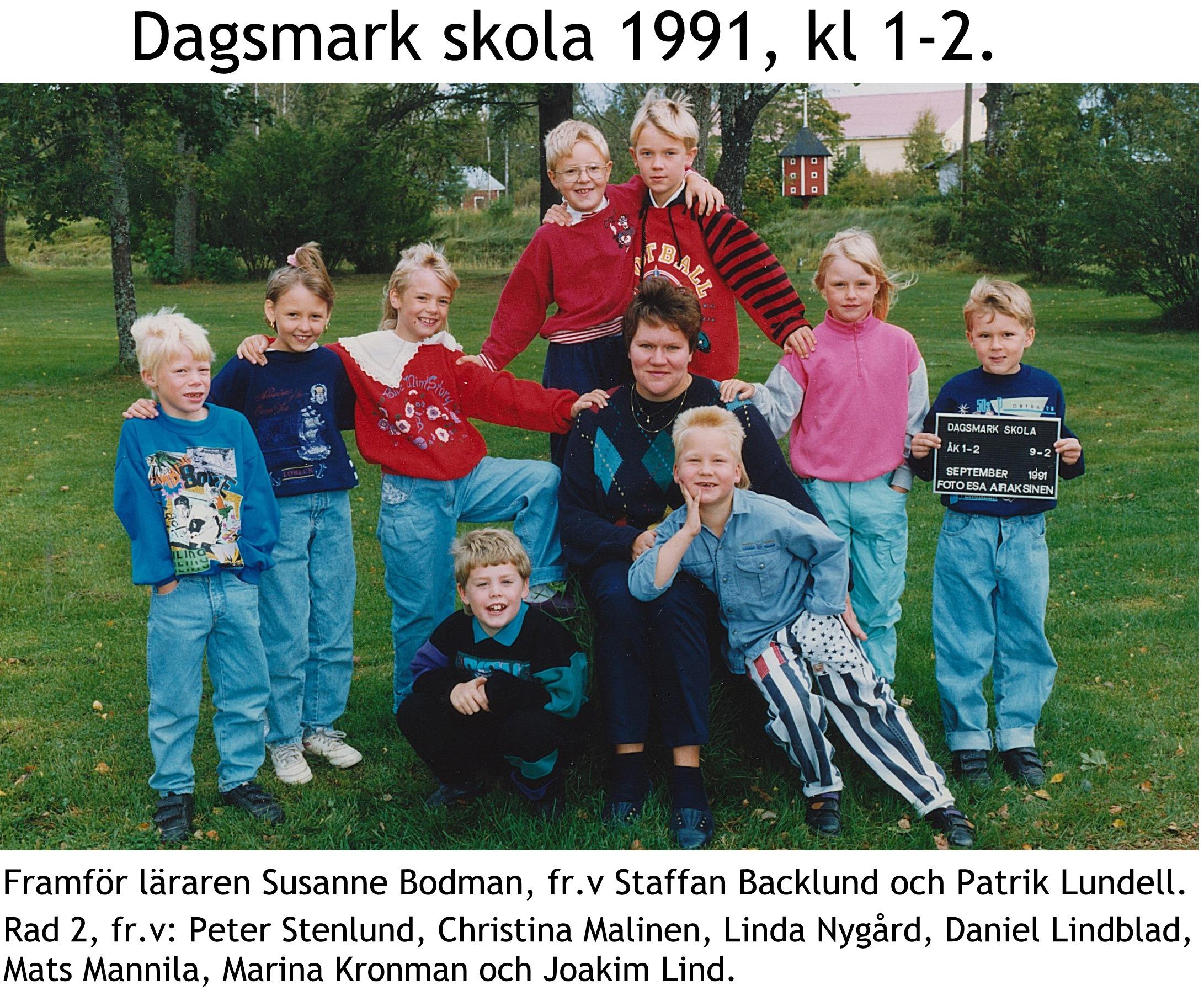 1991 Dagsmark skola kl 1-2