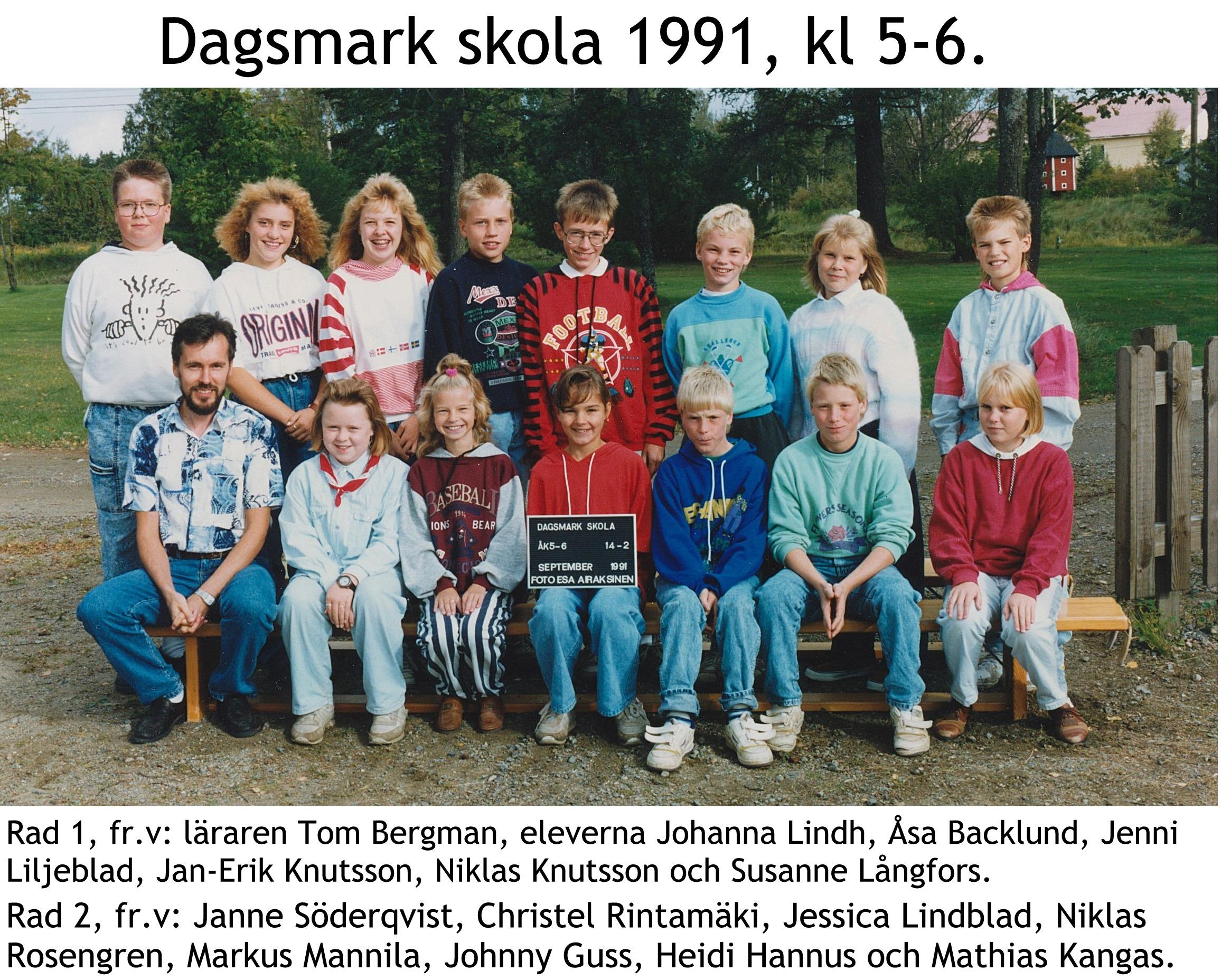 1991 Dagsmark skola kl 5-6