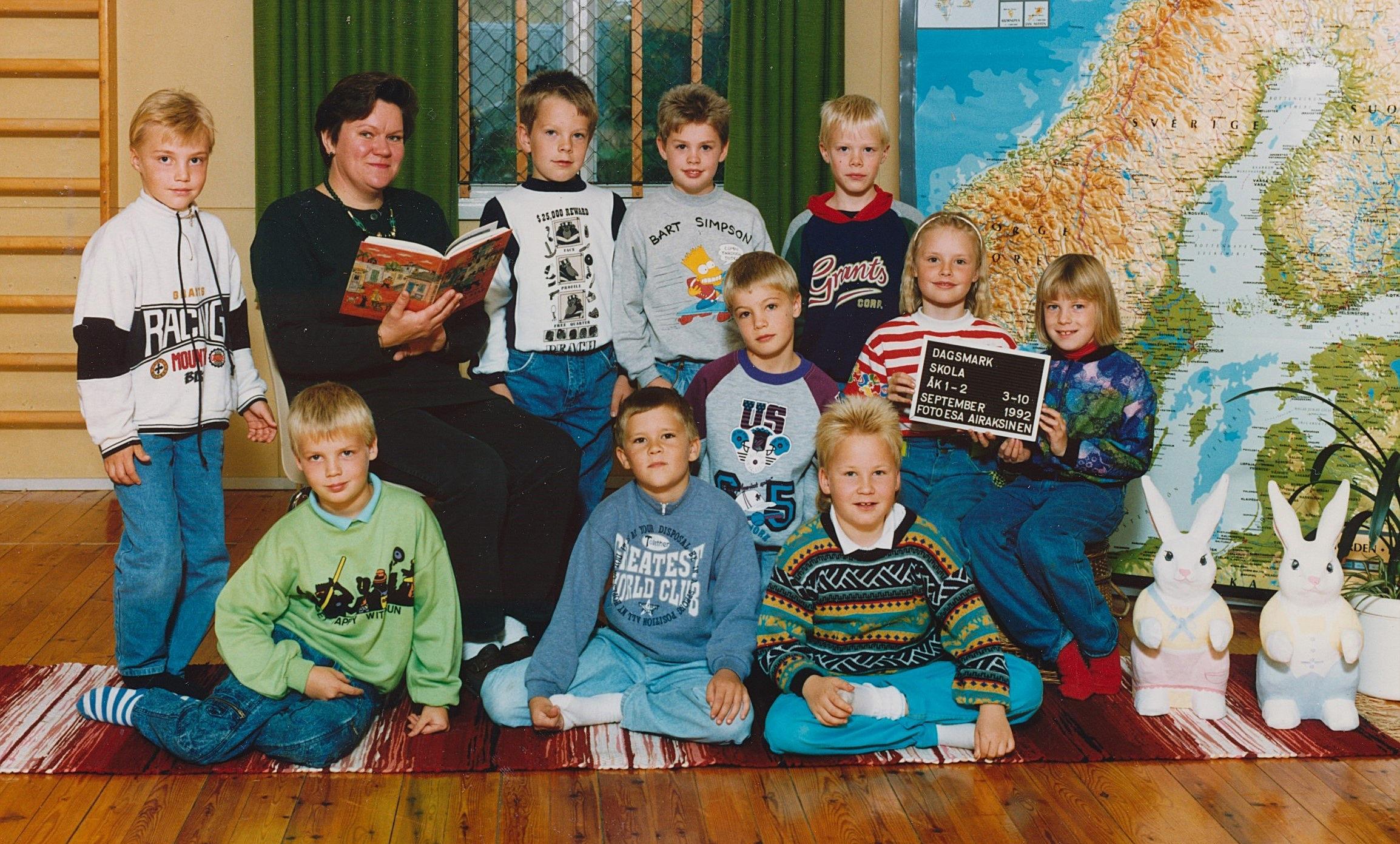 År 1992, årskurs 1-2.