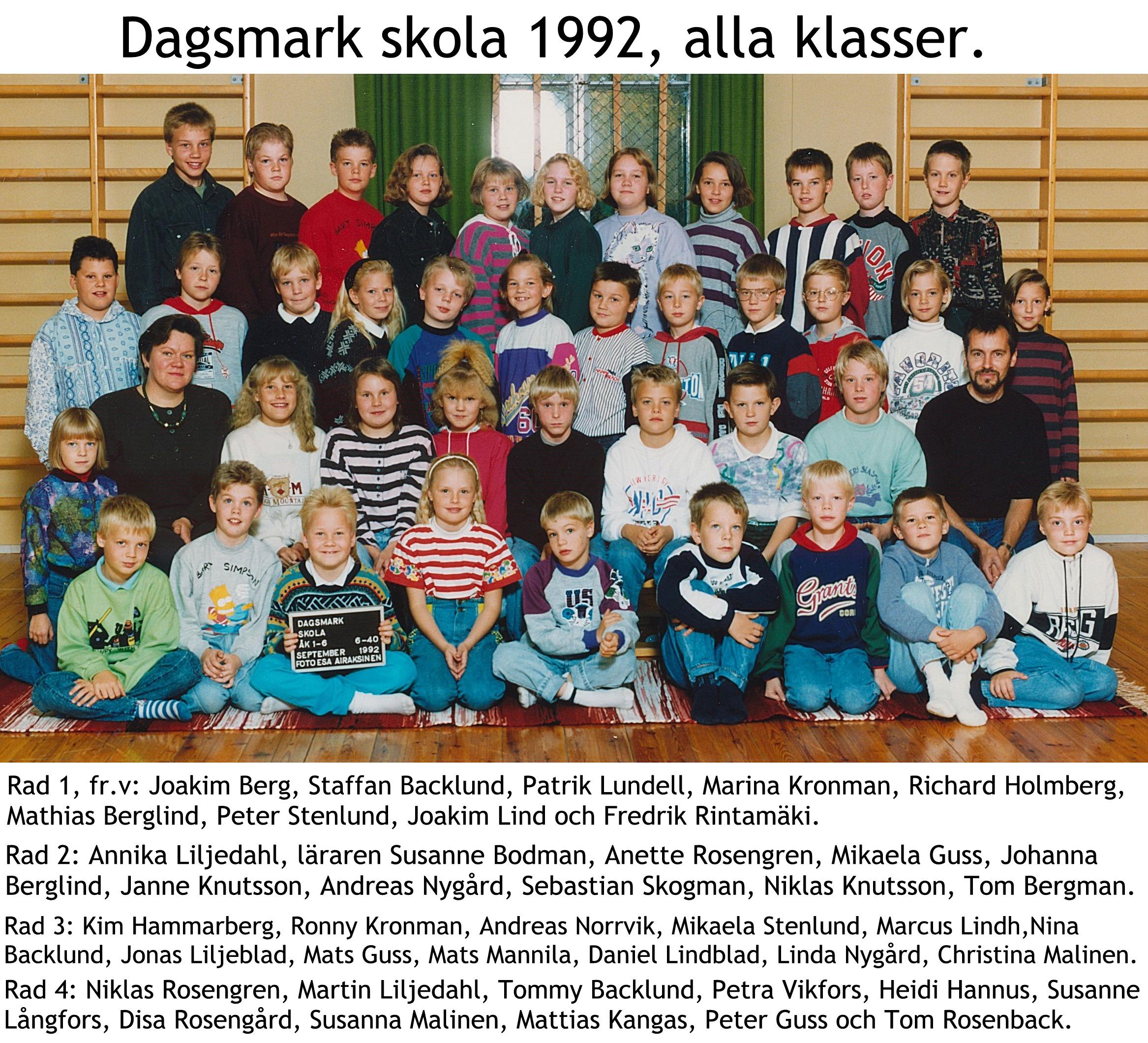 1992 Dagsmark skola 1-6