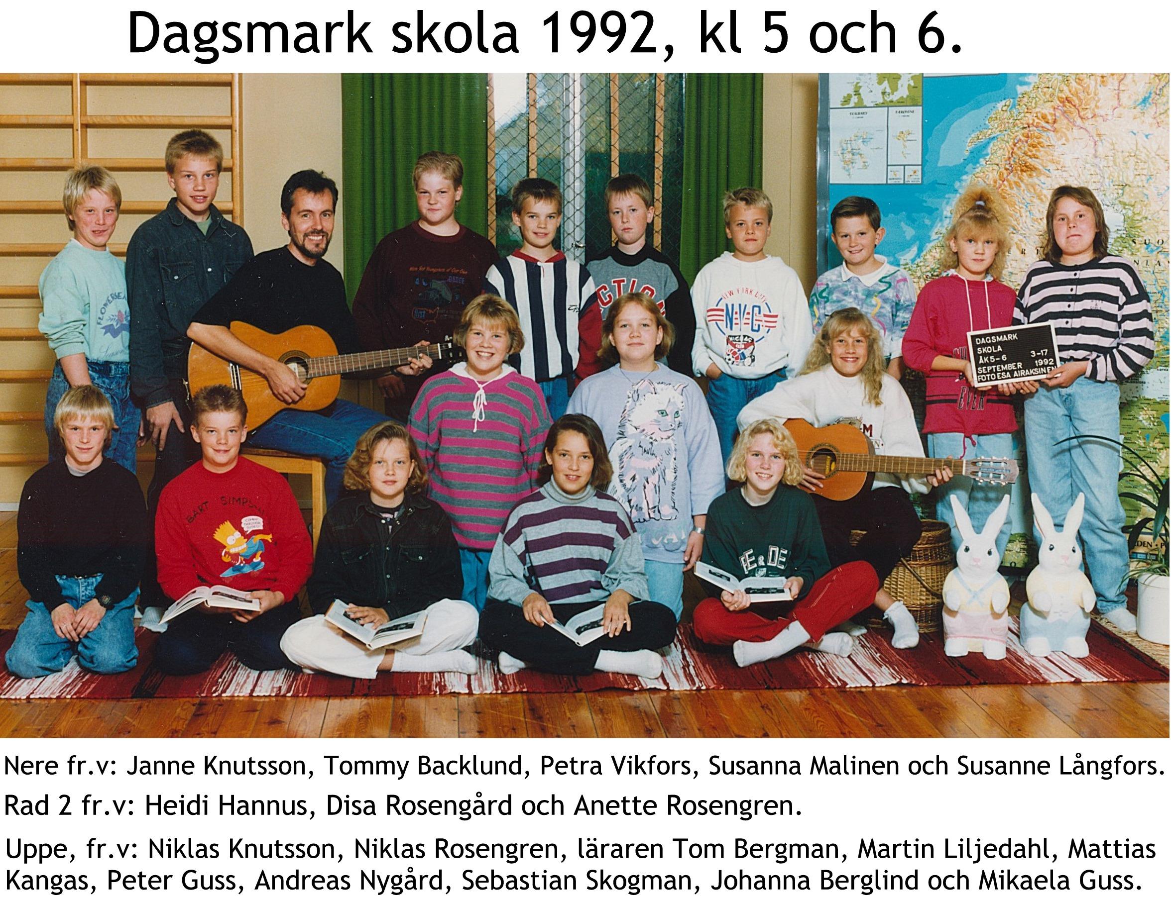 1992 Dagsmark skola 5-6
