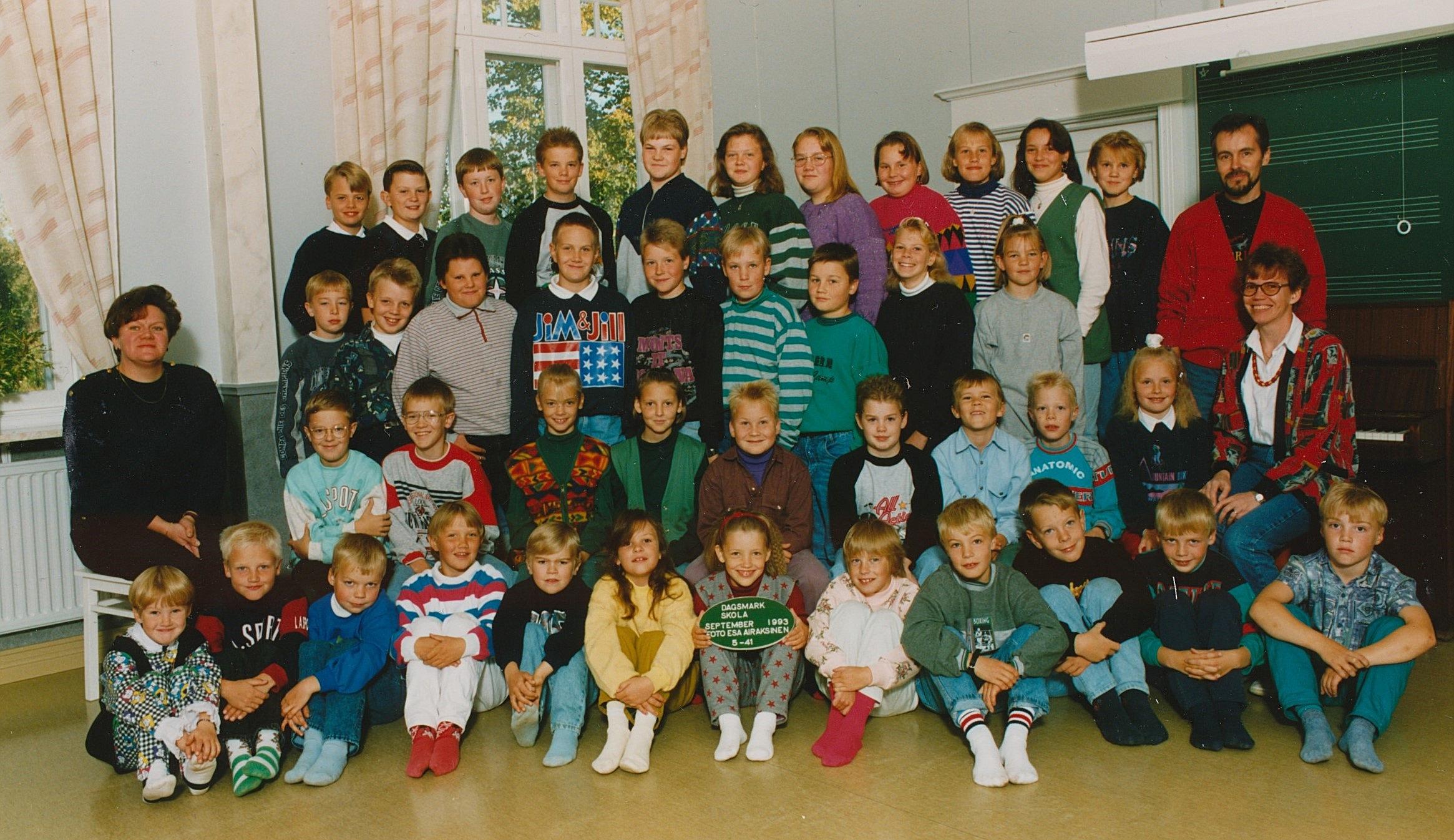 År 1993, Dagsmark skola.