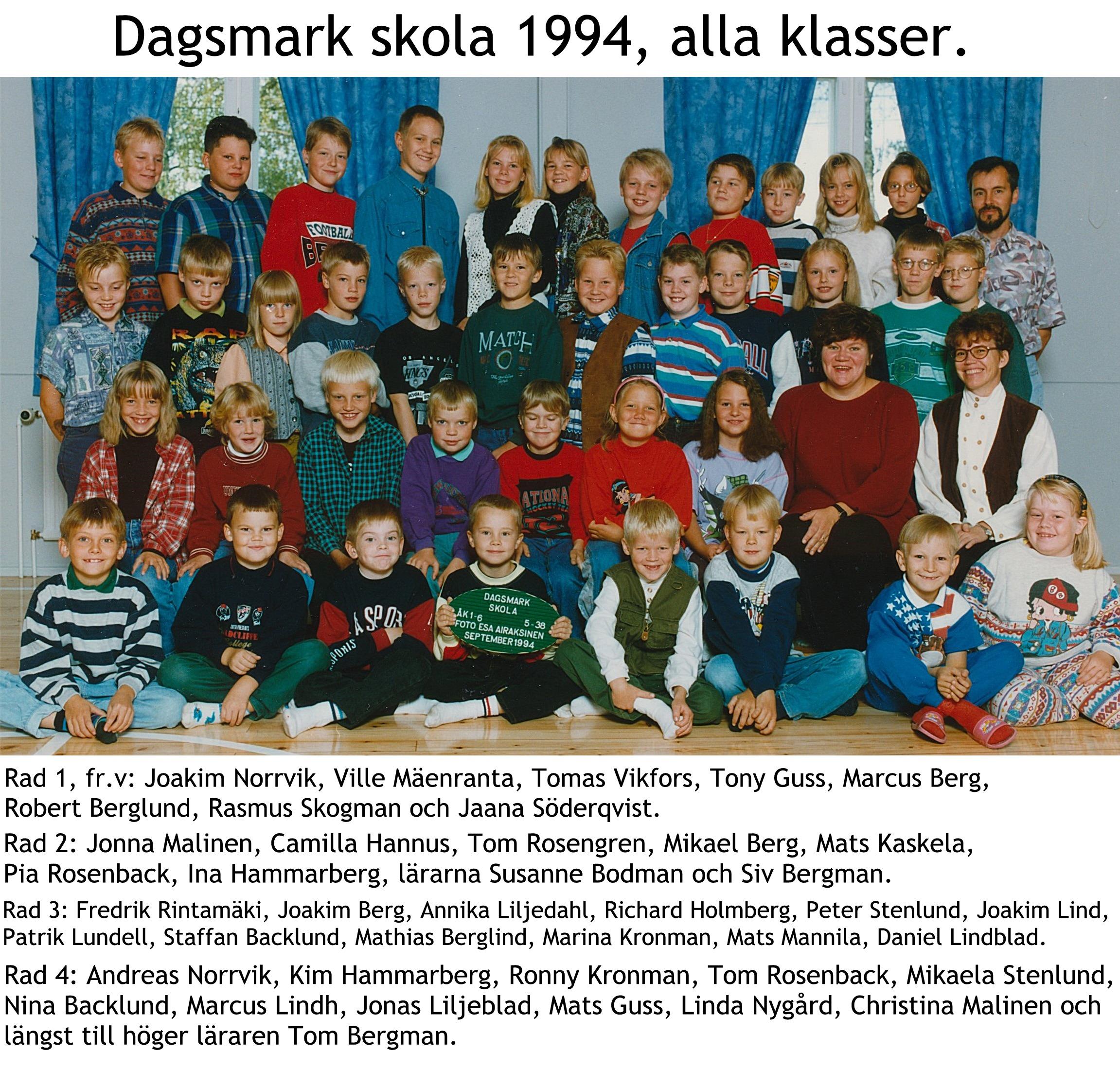 1994 Dagsmark skola alla klasser