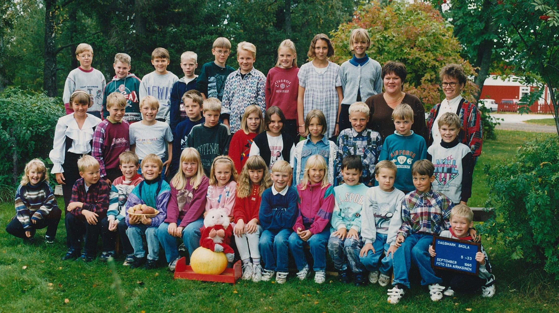 År 1995, Dagsmark skola.
