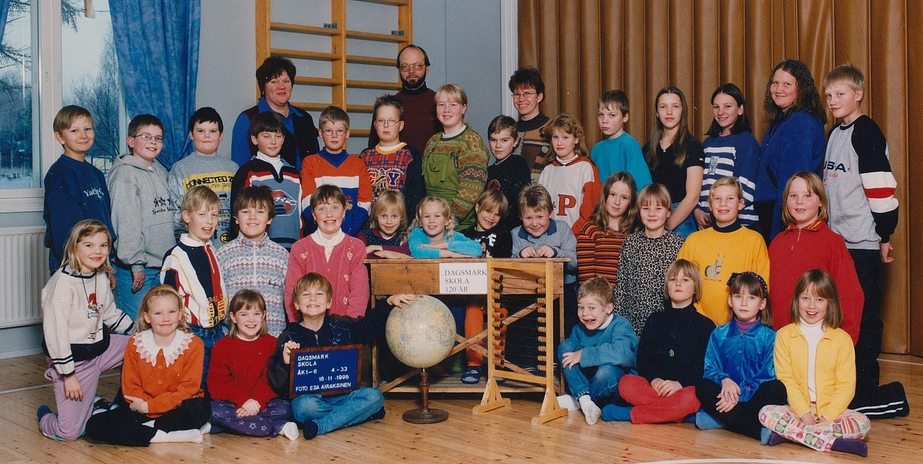 År 1998, Dagsmark skola.