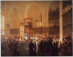 Här den ryska tsaren Alexander I på Borgå lantdag år 1809.