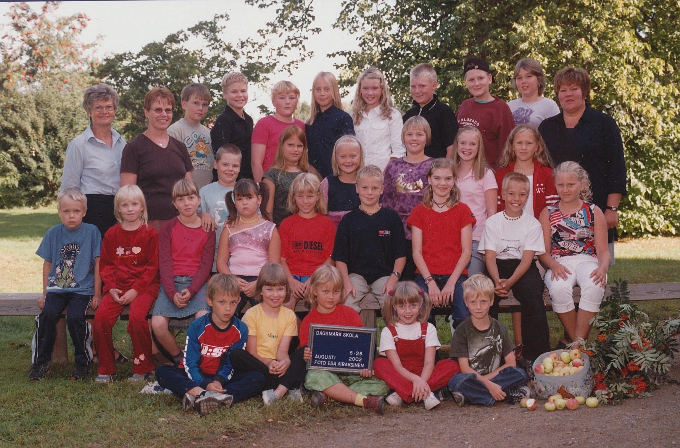 År 2002, Dagsmark skola.