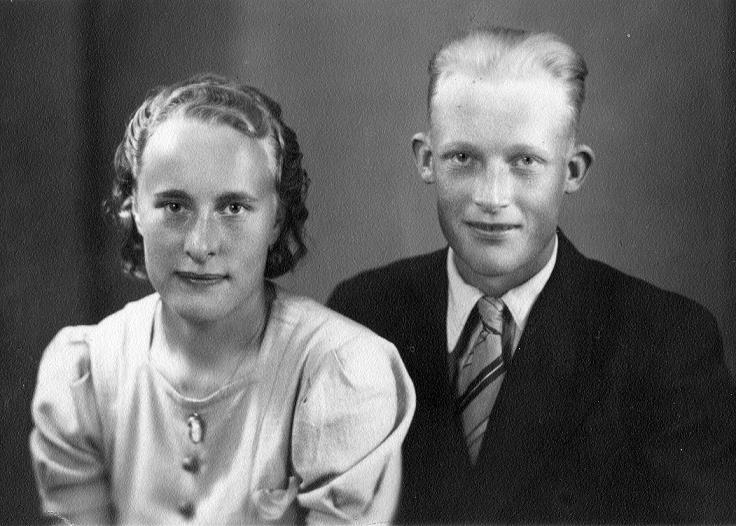 På bilden Ingeborg och Gunnar Lindblad, fotot från 1940.