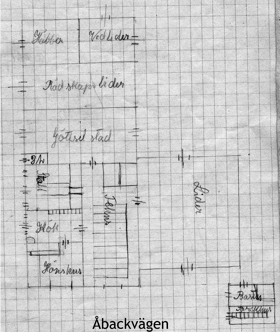 Efter ombyggnaden i början på 1930 talet så såg uthusen ut på detta vis.