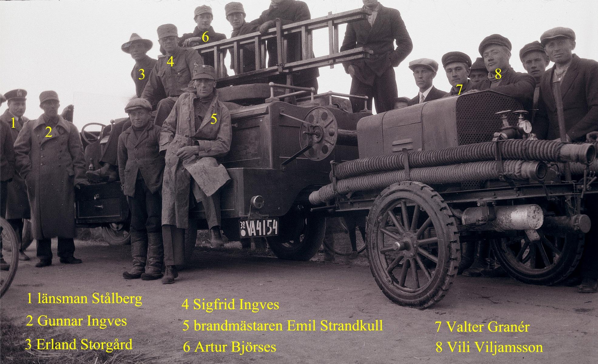 År 1928 var denna brandbil och brandspruta bland det modernaste som fanns.