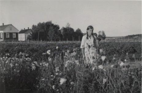 Anna Byholm, som sedan gifte sig med Ingmar Sandgärds.