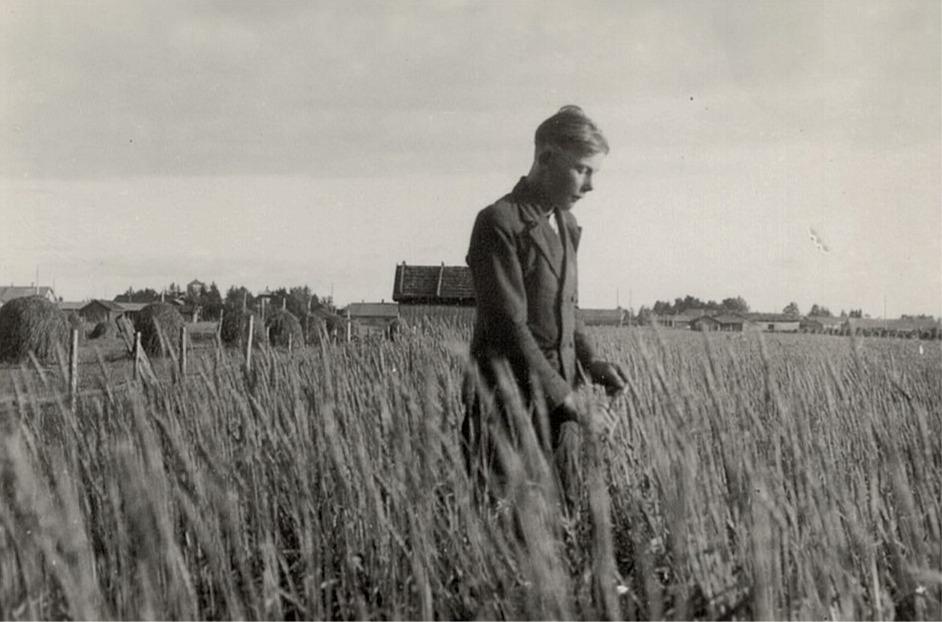 Ingvar Bjors i sin veteåker.