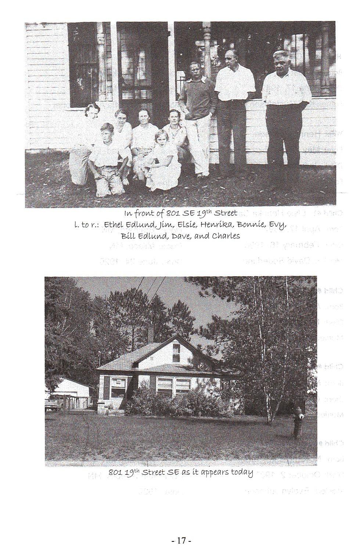 Sid 17, bild på släkten och huset i Brainerd