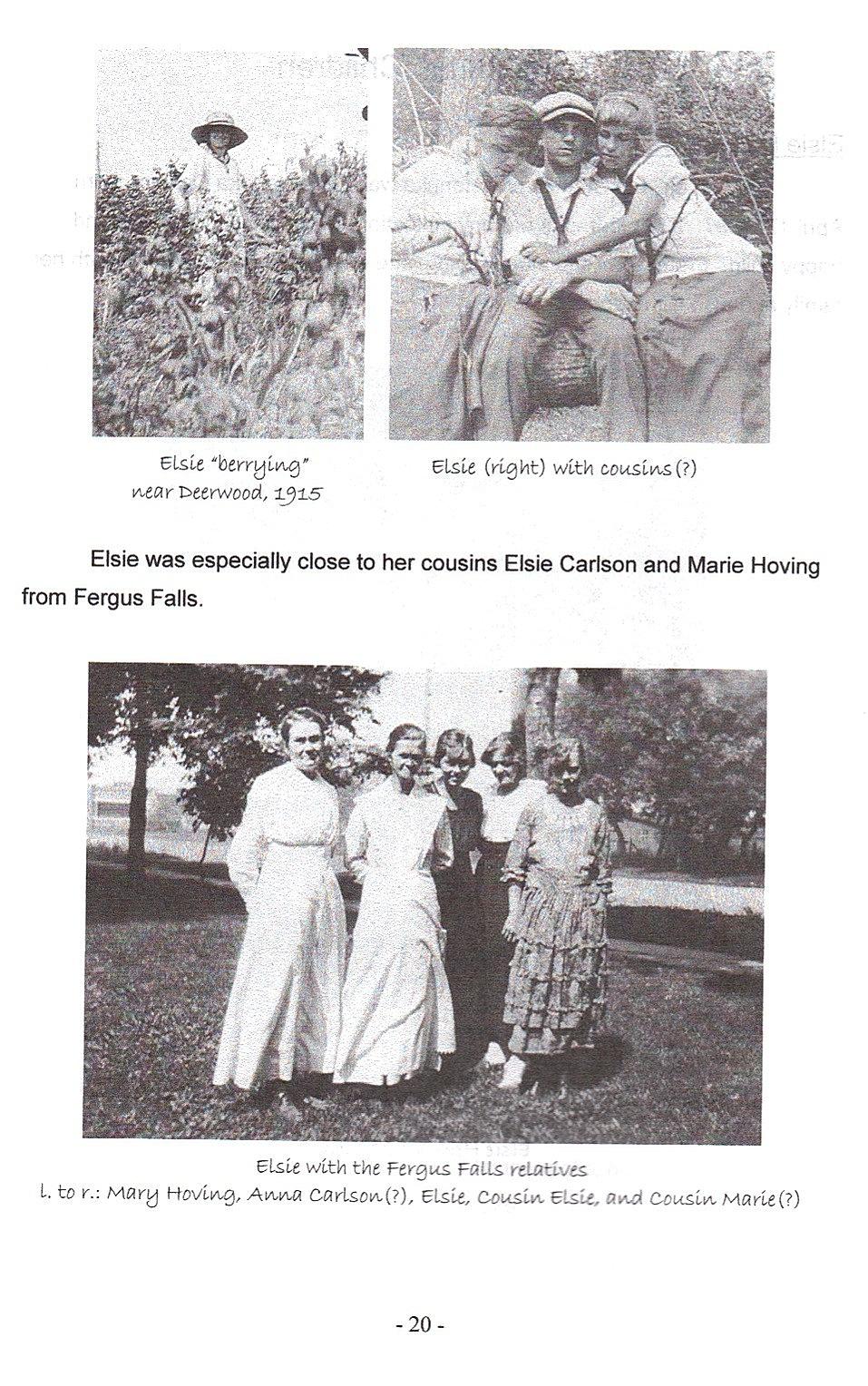 Sid 20, bilder på Elsie Carlson