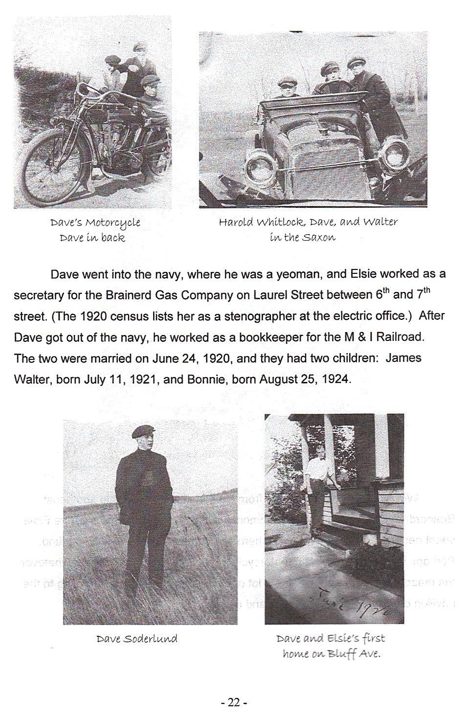 Sid 22, bilder på Dave och Elsie