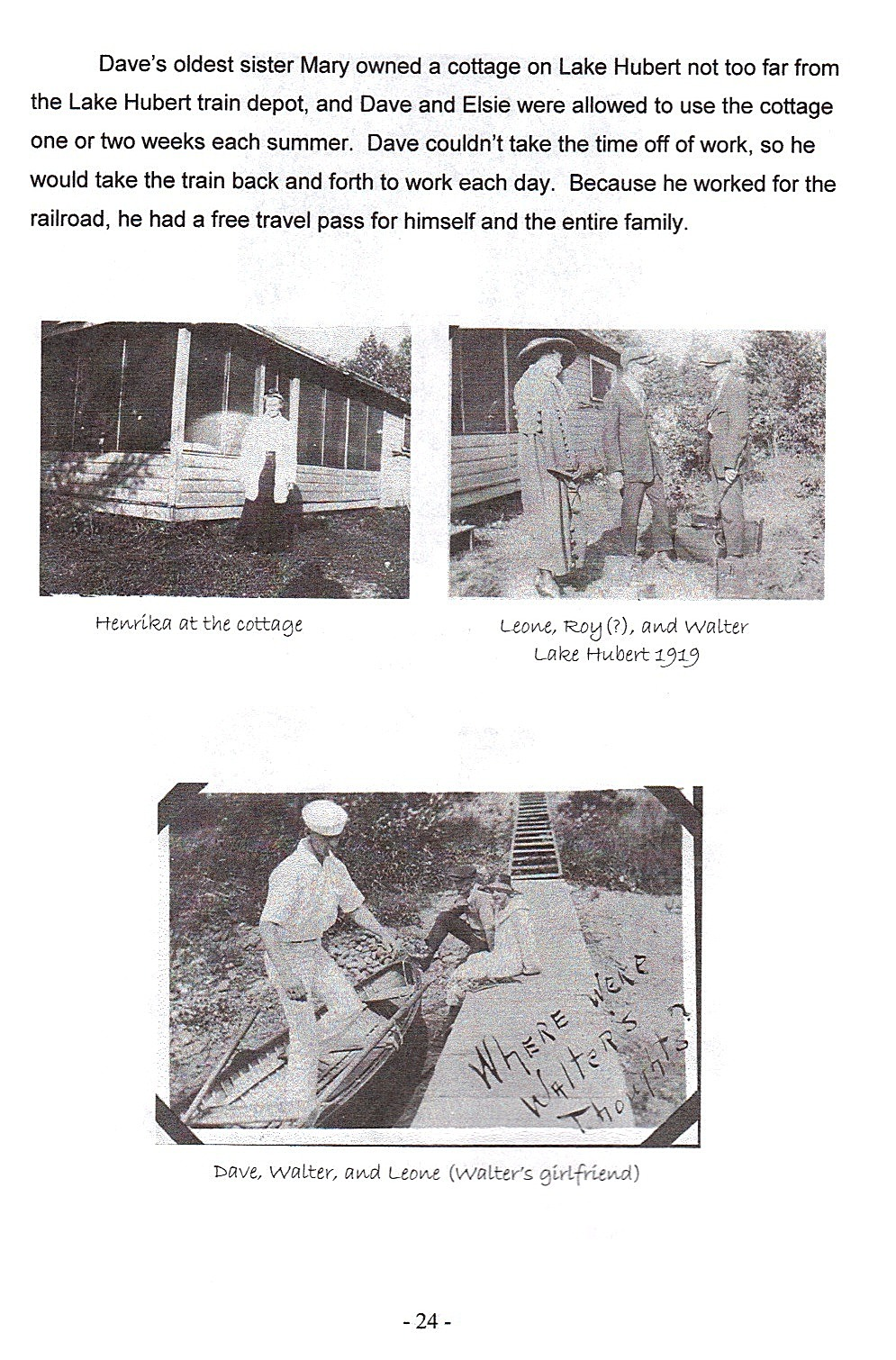 Sid 24, bilder på släkten