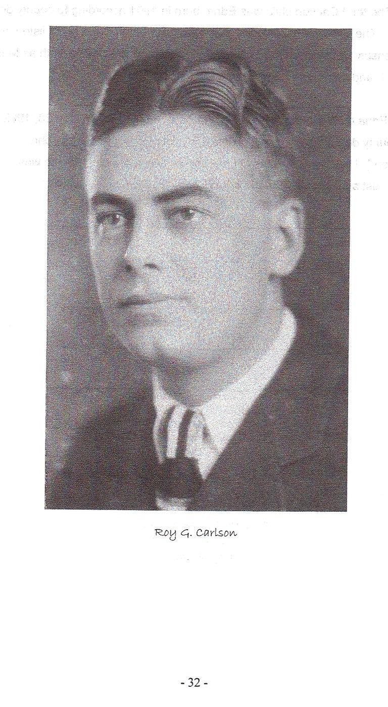 Sid 32, bild på Roy Carlson