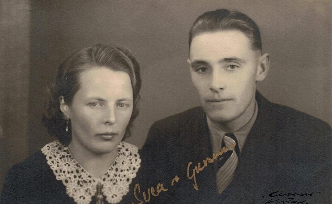 Här Svea Norrgård och Gunnar Guss.