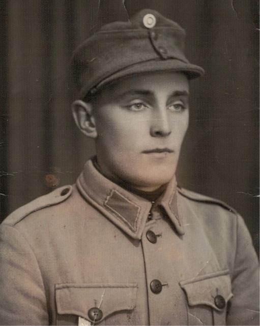 Gunnar Guss i militären.