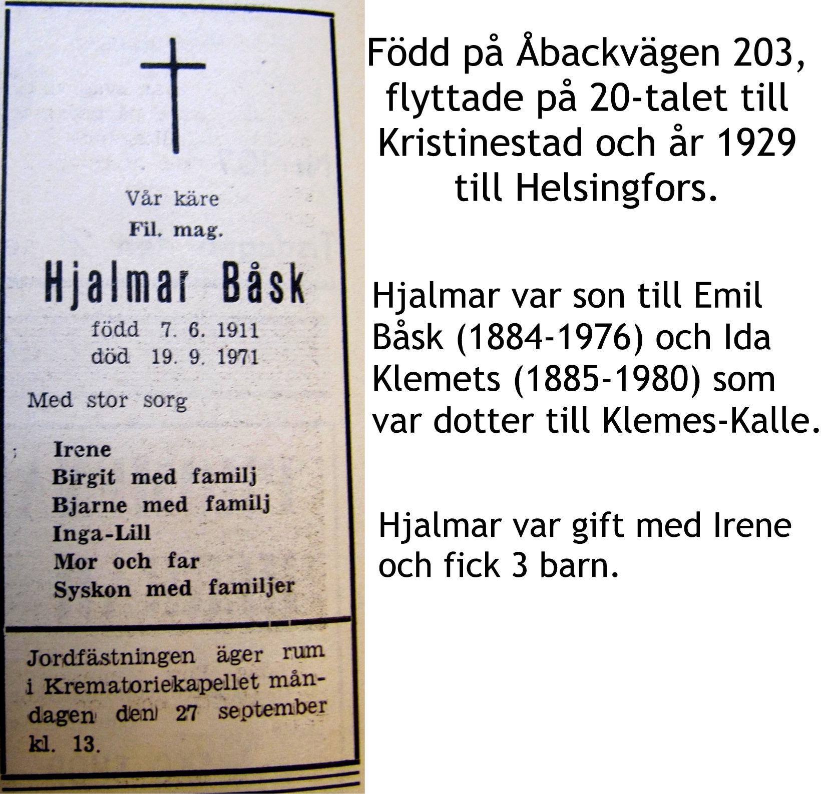 Båsk Hjalmar