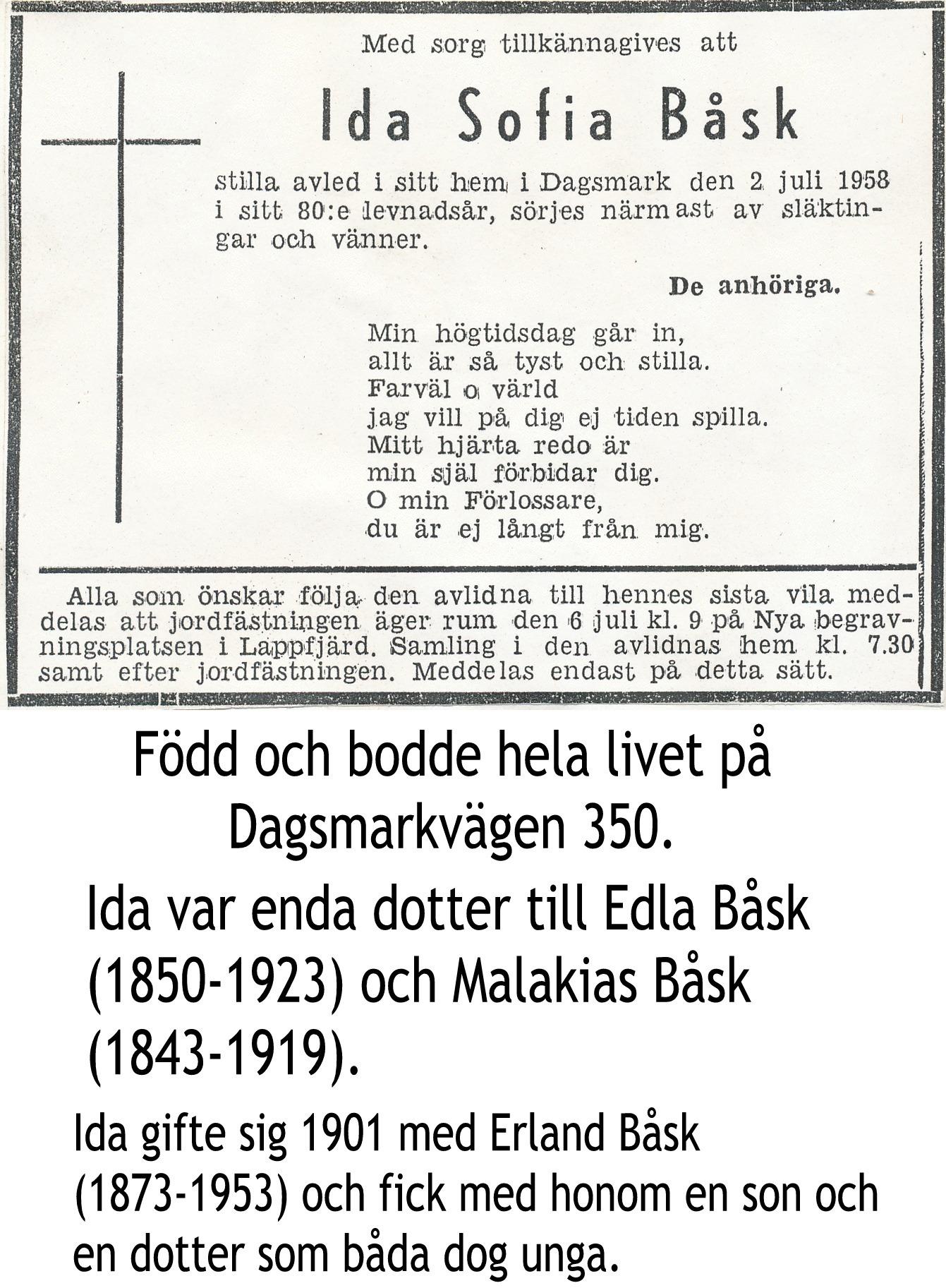 Båsk Ida Sofia