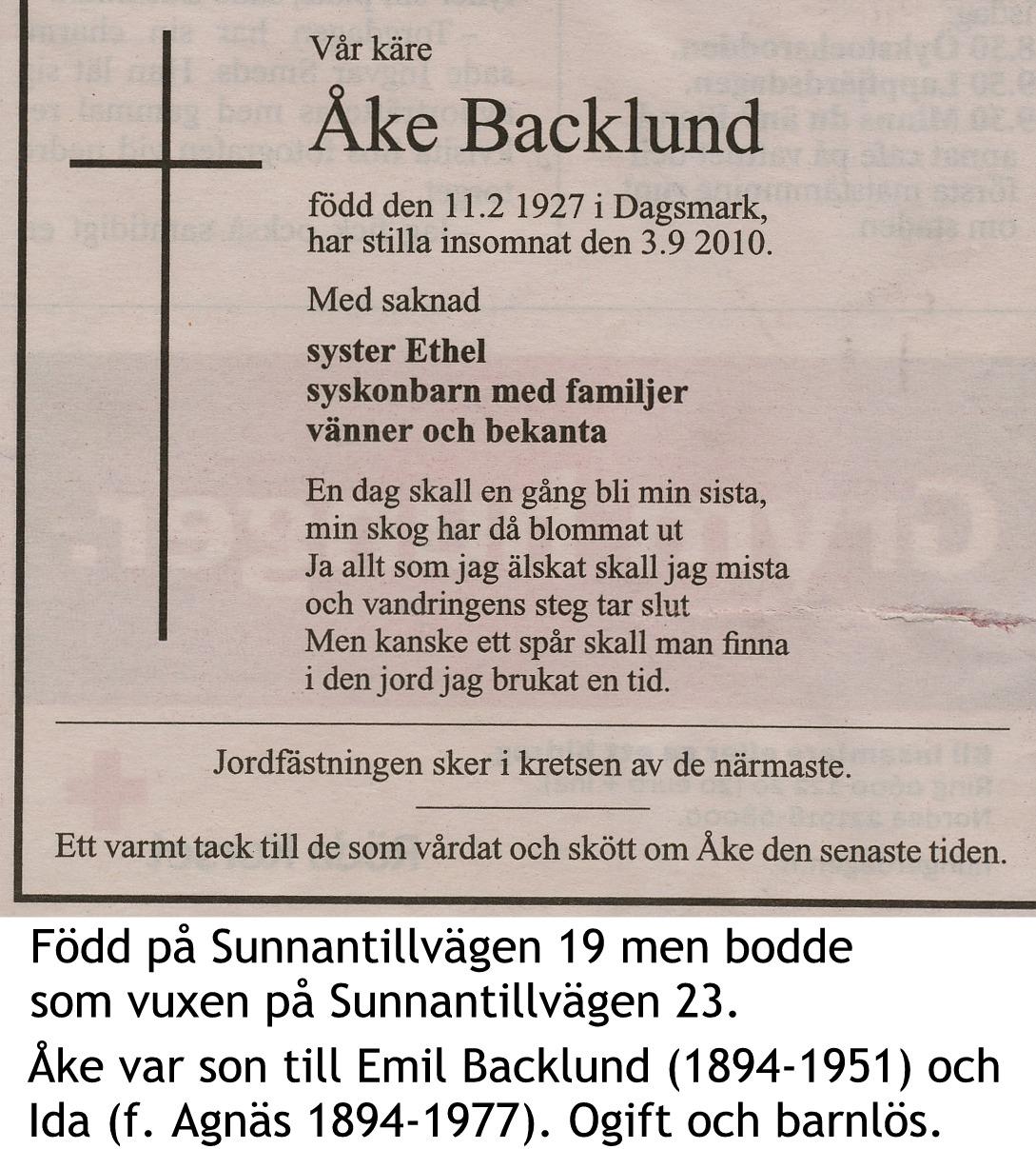 Backlund Åke