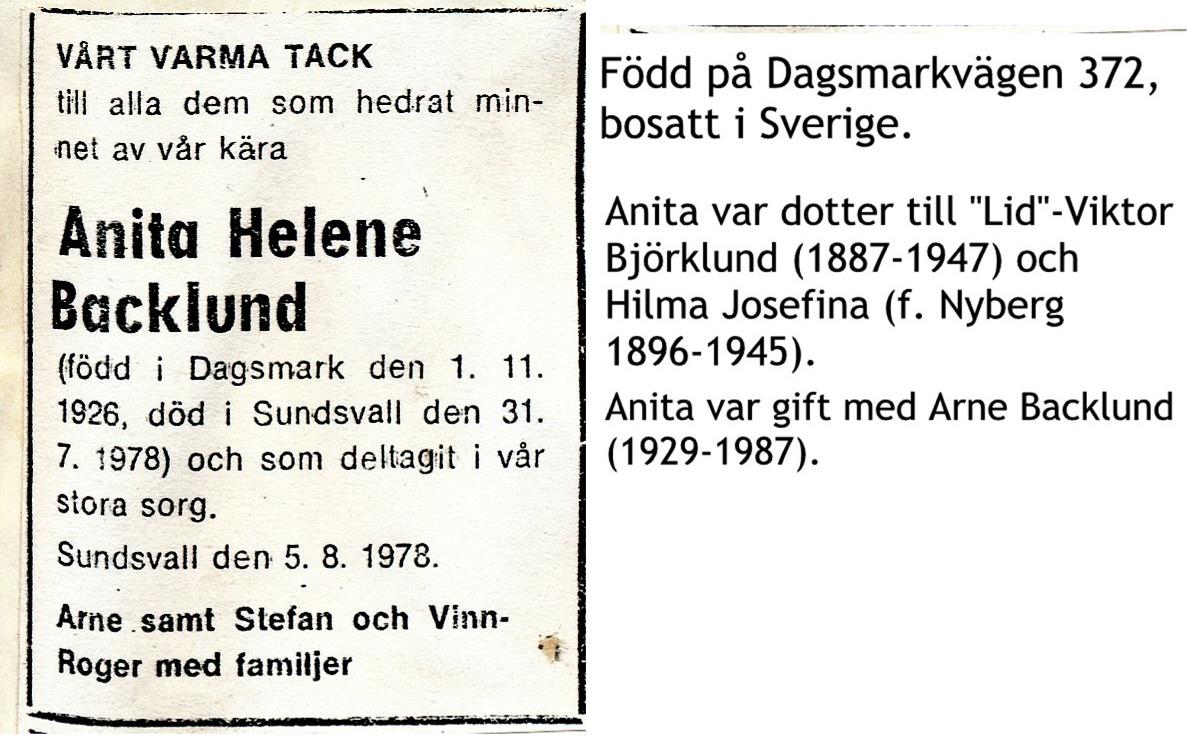 Backlund Anita Helena