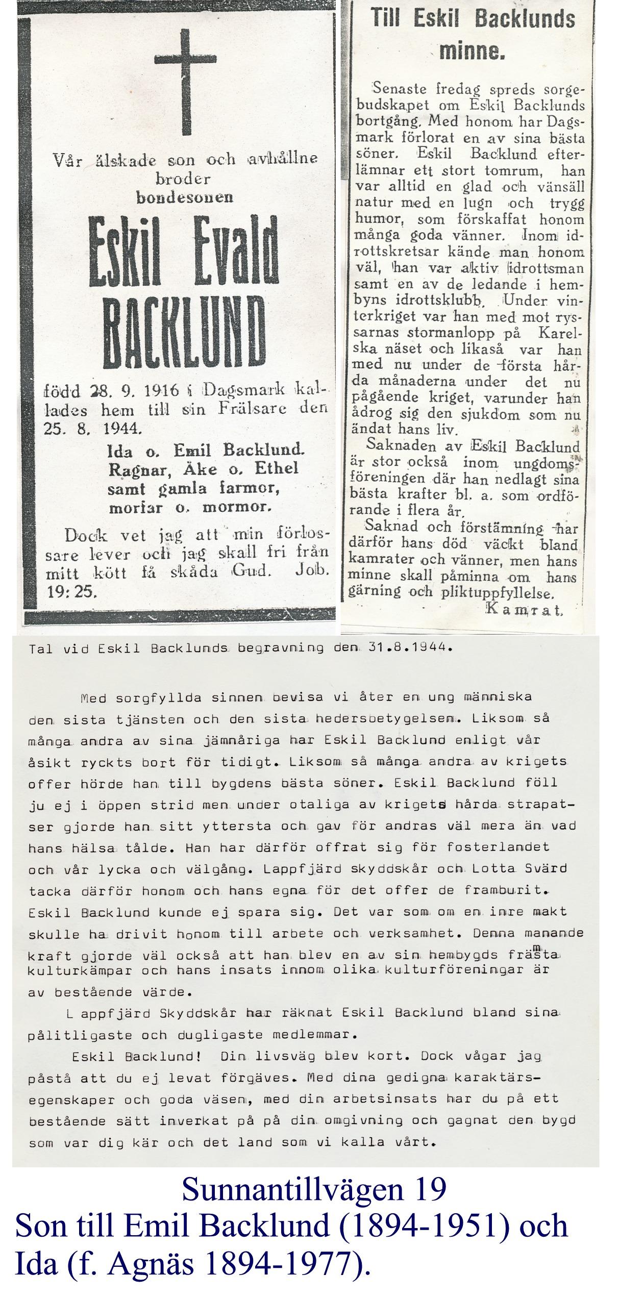 Backlund Eskil