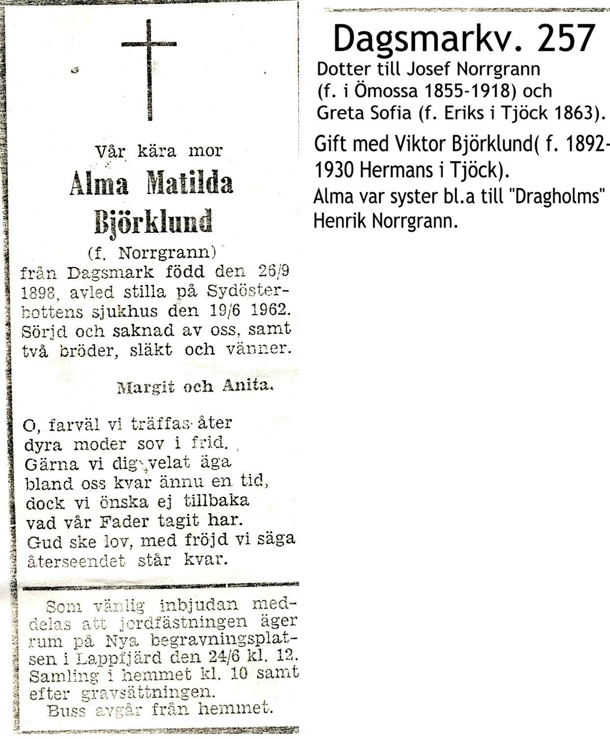 Björklund Alma