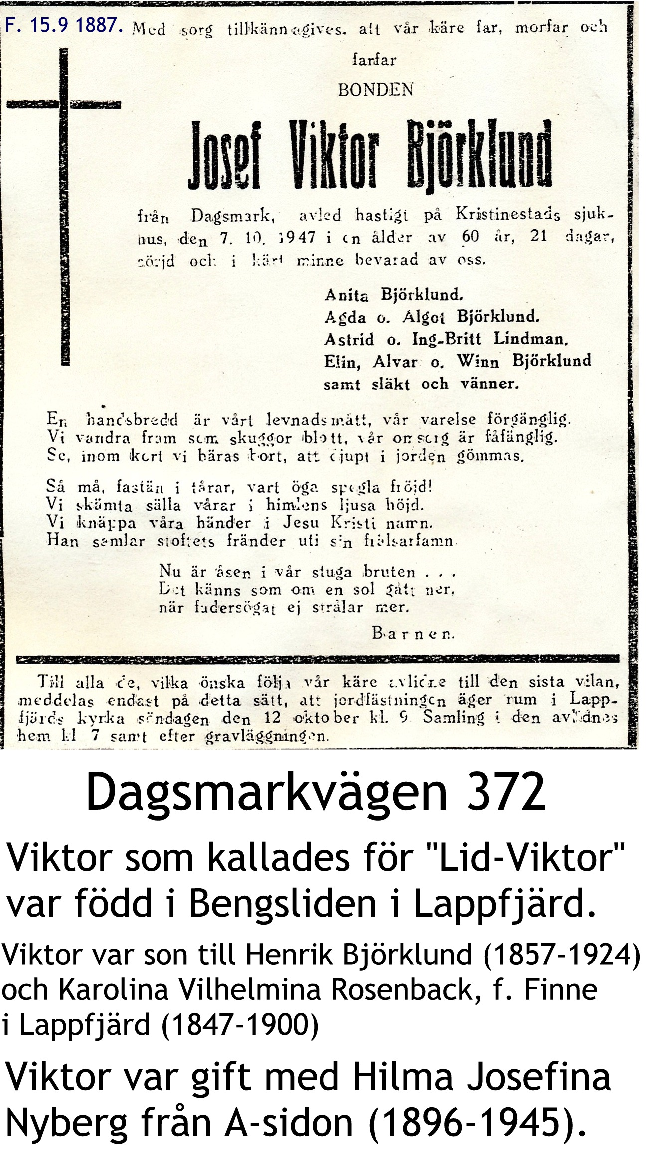 Björklund Josef VIKTOR
