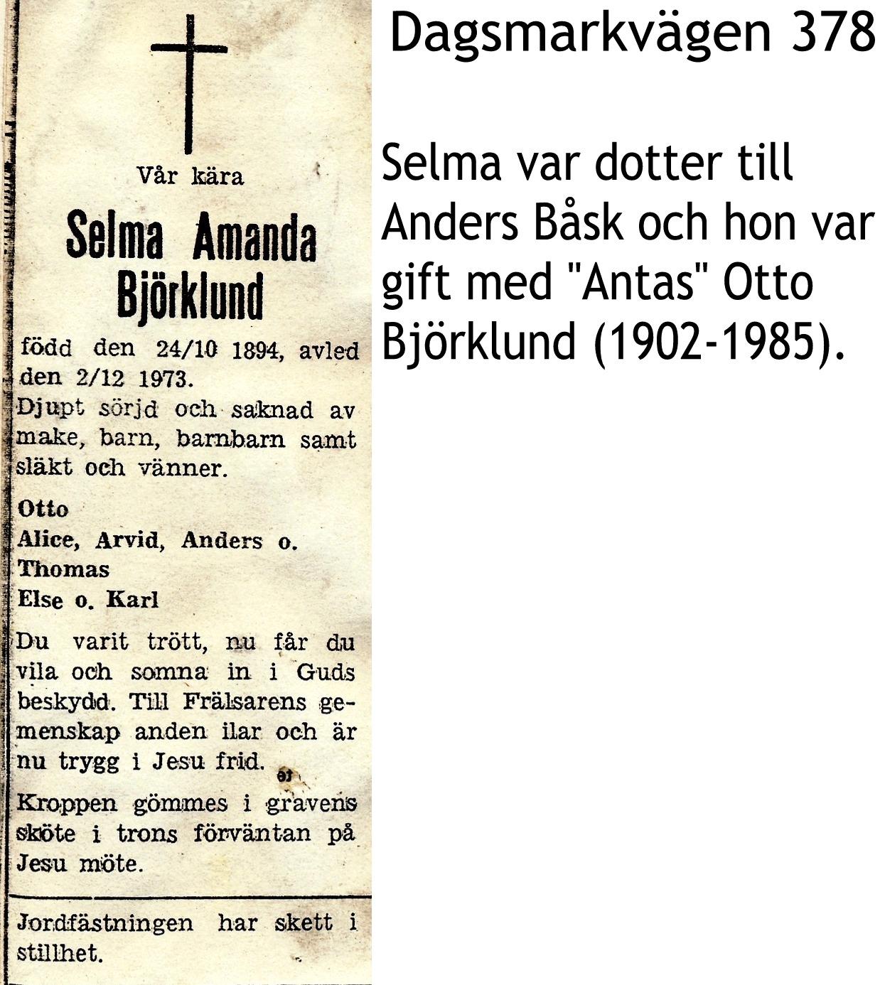 Björklund Selma Amanda