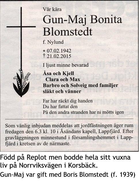 Blomstedt Gun-Maj